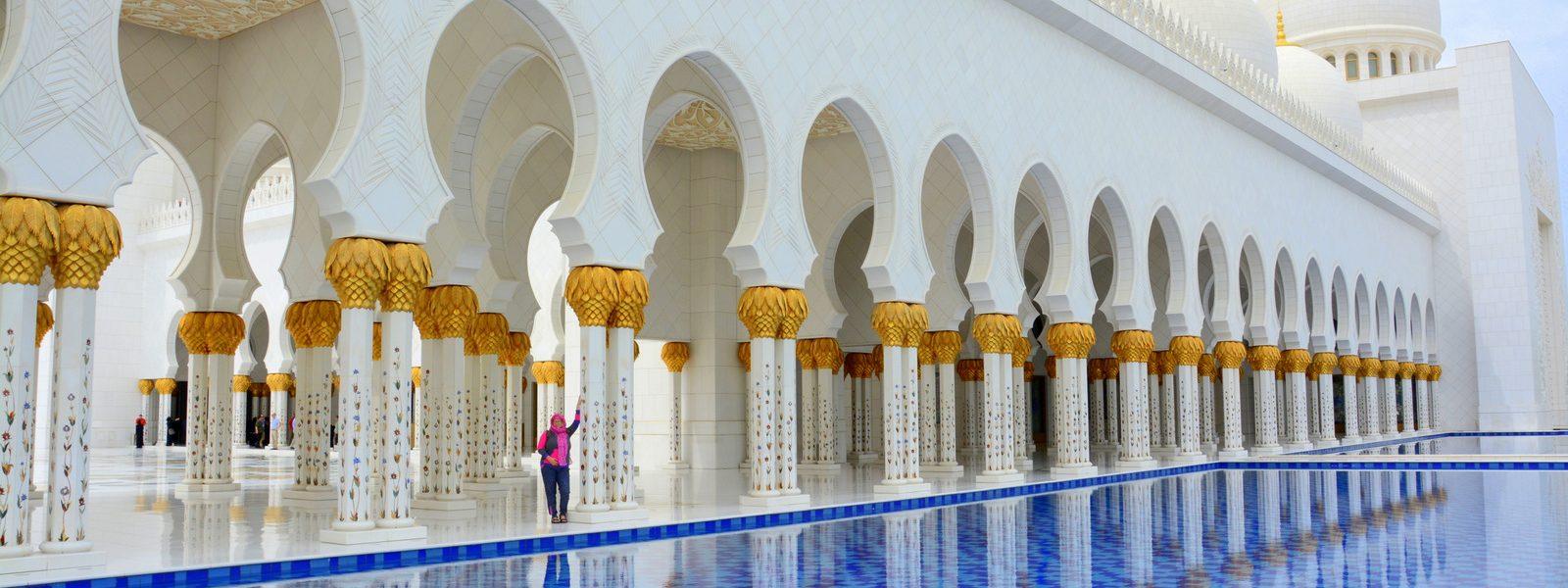 Abu Dhabi in Sheik Zayed Grand Mosque