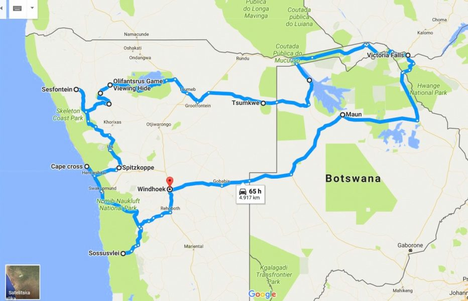 Namibia Botswana and Victoria Falls travel logistic and practical