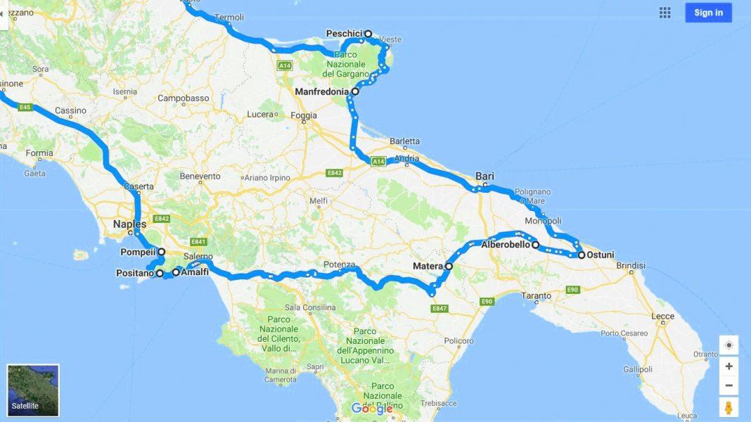 Plan Potovanja Juzna Italija Apulija Basilicata In Campanija