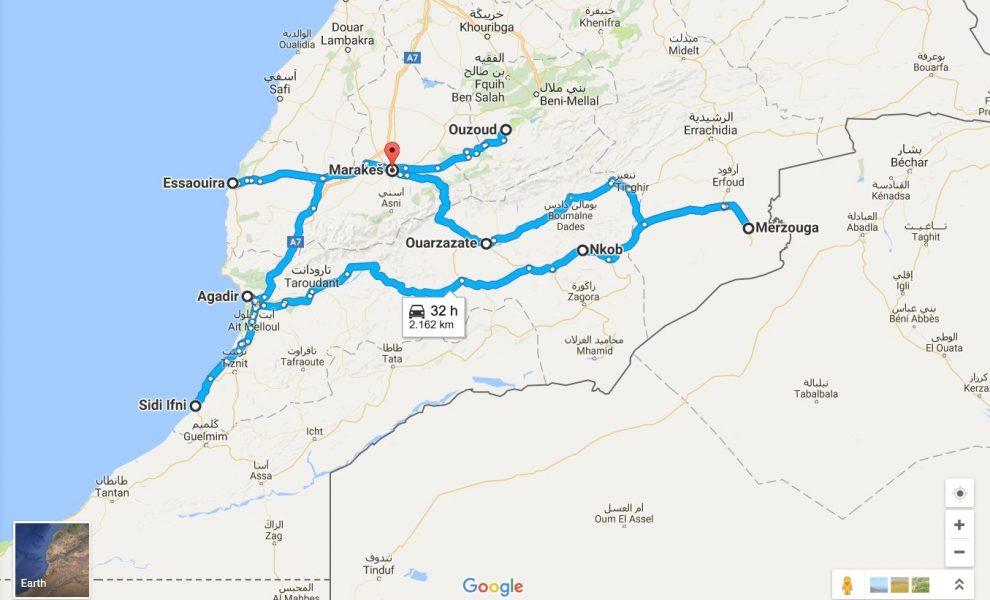 maroko-zemljevid