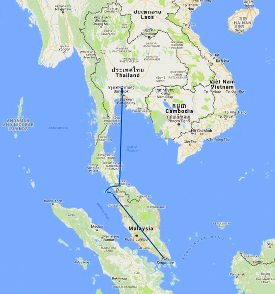 Thailand, Singapore and Malaysia: travel logistic and practical